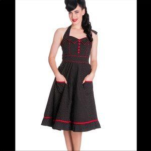 Hell Bunny Vixen Vanity Swing Dress Polka Dot 68